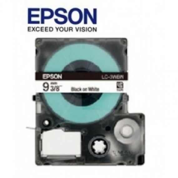 Epson LabelWorks™ LC-3LWV - 9mm White on Blue Tape