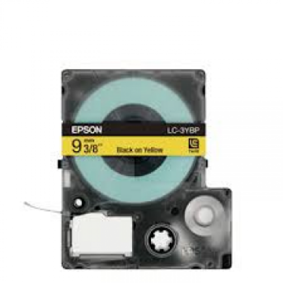 Epson LabelWorks™ LC-3YBP - 9mm Black on Yellow Tape